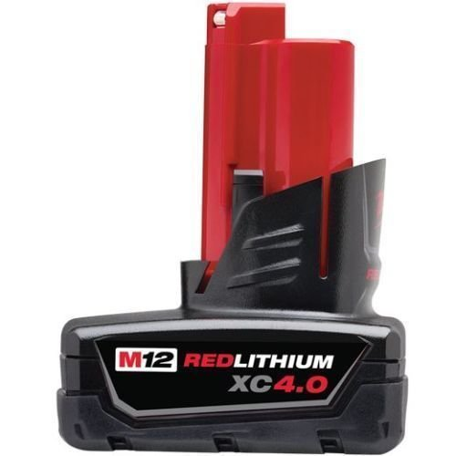 Genuine Milwaukee 48-11-2440 New M12 12v Red Lithium XC 40 Ah Battery