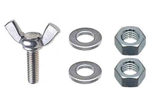 14-20 x 1-14 Thumb Screw Type A Cold Forged Steel Zinc Plated Includes Compatible Flat Washers and Hex Nuts by Fastener Pro 10-Pack Set