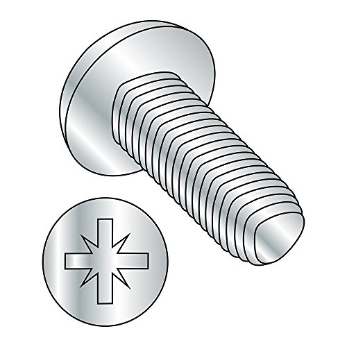 Steel Thread Rolling Screw for Metal Zinc Plated Pan Head Pozi Drive Metric M25-045 Thread Size 5 mm Length Pack of 100