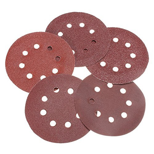 CynKen 100pcs 180mm 7 Inch 40-400 Grit Sandpapers Sand Discs Sanding Polishing Pad with Hook and Loop Backer Pad 8 Holes
