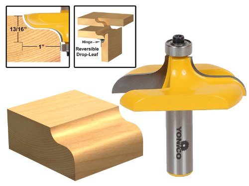Yonico 13145 Traditional Table Edge Router Bit 12-Inch Shank