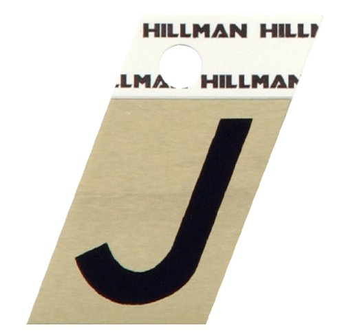 The Hillman Group 840512 1-12-Inch Aluminum Angle-Cut Letter J