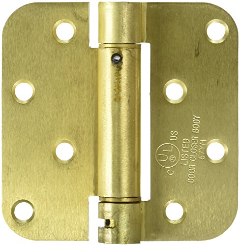 Deltana DSH4R54BM Single Action Steel 4-Inch x 4-Inch x 58-Inch Spring Hinge